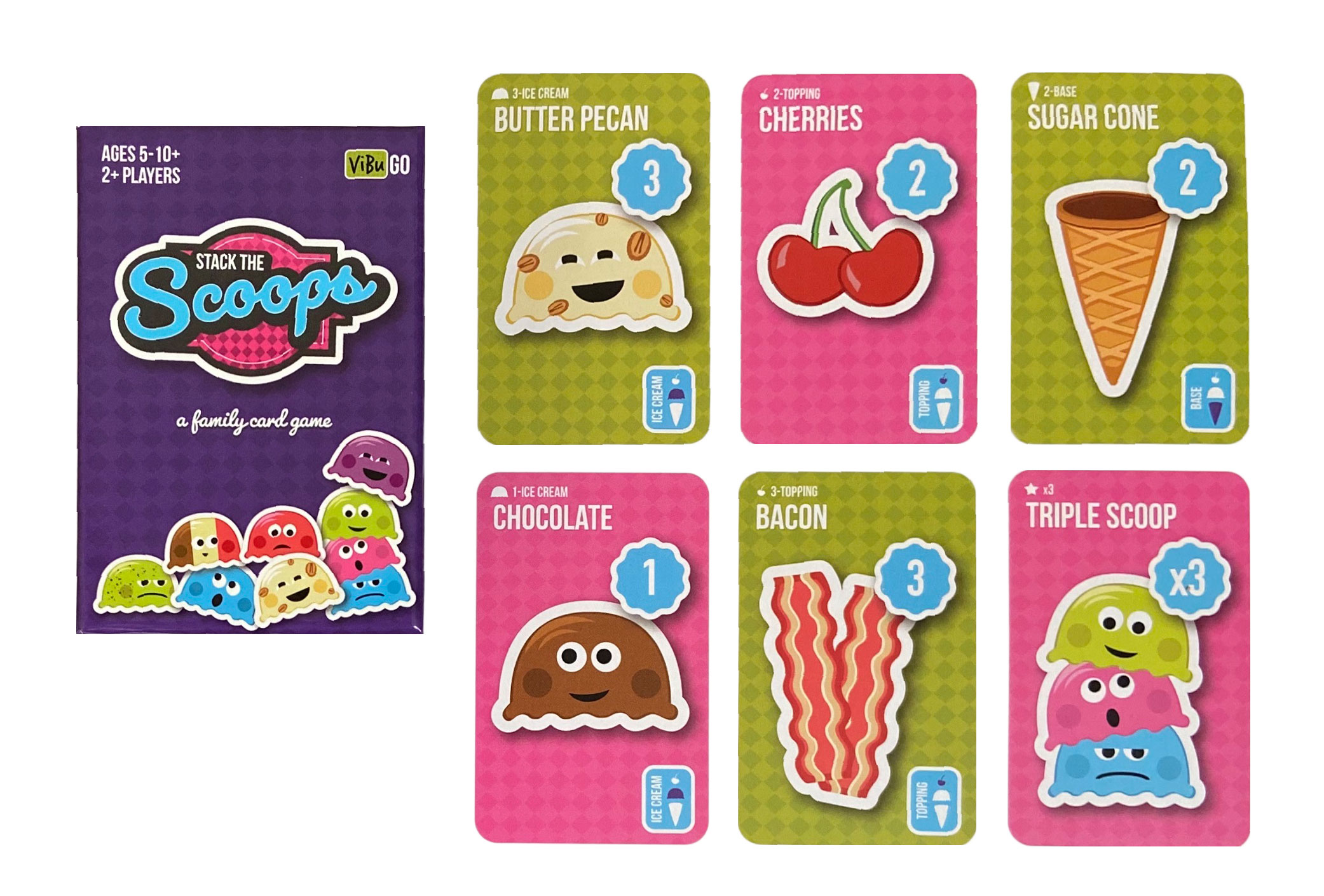Stack The Scoops Cards and Box